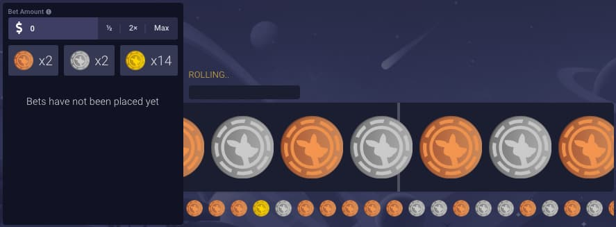 Roobet Roulette screenshot of the gameplay