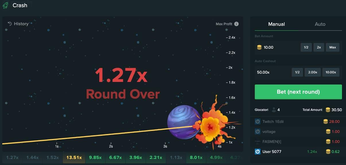 crash gambling on duelbits
