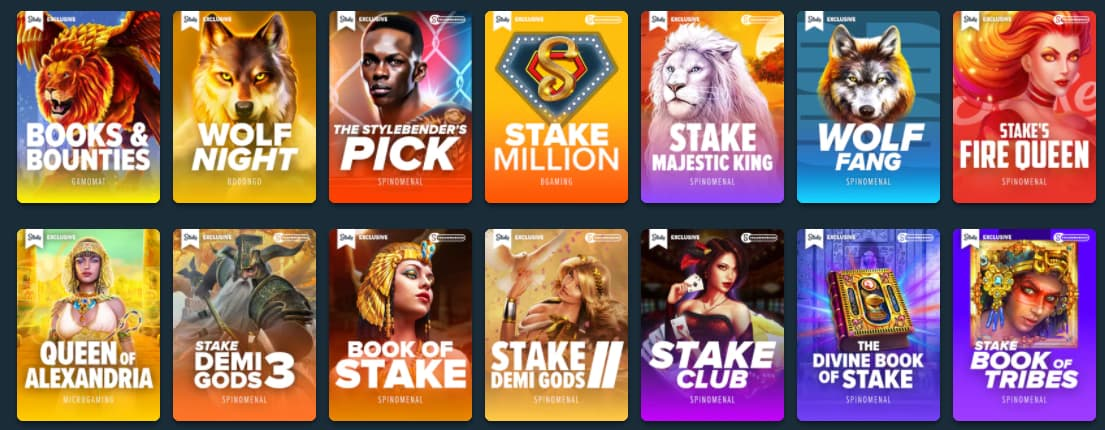 exclusive games on stake com