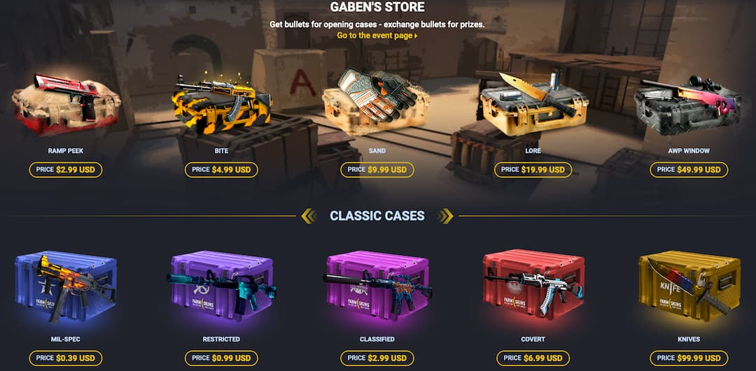 csgo cases with their value